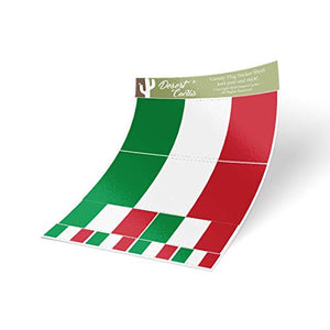 Italy Country Flag Sticker Decal Variety Size Pack 8 Total Pieces Kids Logo Scrapbook Car Vinyl Window Bumper Laptop V
