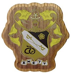 Sigma Nu Wood Crest Made of Wood for Paddle Mascot Board Sig Nu (3.5 Inches Tall Double Raised)