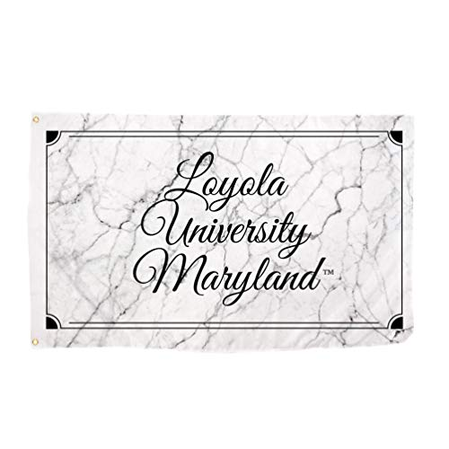 Desert Cactus Loyola Maryland University Greyhound NCAA 100% Polyester Indoor Outdoor 3 feet x 5 feet Sign Decor (Marble Flag)