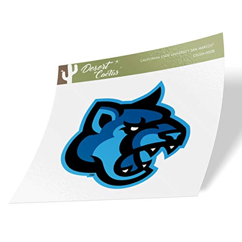California Cal State University San Marcos CSUSM Cougars NCAA Vinyl Decal Laptop Water Bottle Car Scrapbook (Sticker - 00018)