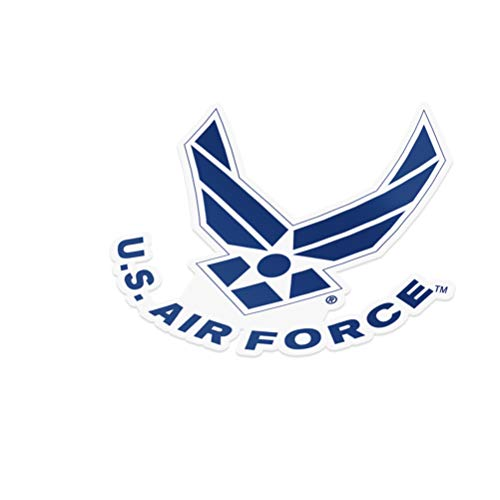 United States Air Force (USAF) Emblem Logo Vinyl Decal Laptop Water Bottle Car Scrapbook Licensed US (Sticker - #4)
