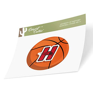 University of Hartford Hawks NCAA Vinyl Decal Laptop Water Bottle Car Scrapbook (Basketball Logo Sticker)