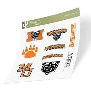 Mercer University Bears NCAA Sticker Vinyl Decal Laptop Water Bottle Car Scrapbook (Type 2 Sheet)