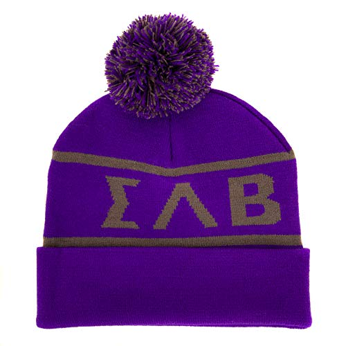 Sigma Lambda Beta Letter Beanie Hat Greek Cold Weather Winter