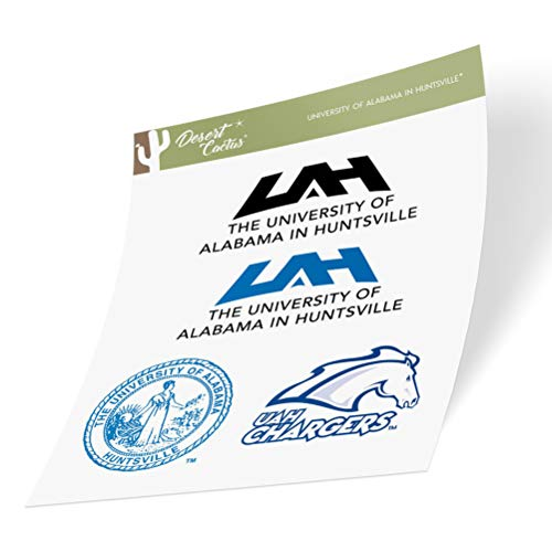 University of Alabama in Huntsville UAH Chargers NCAA Sticker Vinyl Decal Laptop Water Bottle Car Scrapbook (Type 2 Sheet)