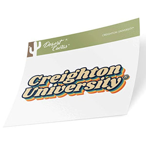 Creighton University CU Bluejays NCAA Vinyl Decal Laptop Water Bottle Car Scrapbook (70's Name Sticker)