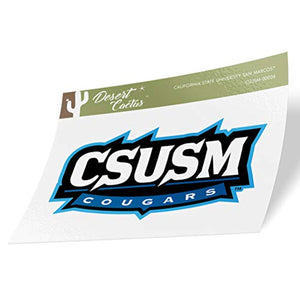 California Cal State University San Marcos CSUSM Cougars NCAA Vinyl Decal Laptop Water Bottle Car Scrapbook (Sticker - 00024)