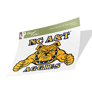 North Carolina A & T State University HBCU Aggies NCAA Vinyl Decal Laptop Water Bottle Car Scrapbook (Sticker - 01)