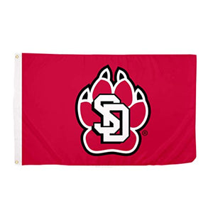 The University of South Dakota NCAA 100% Polyester Indoor Outdoor 3 feet x 5 feet Flag
