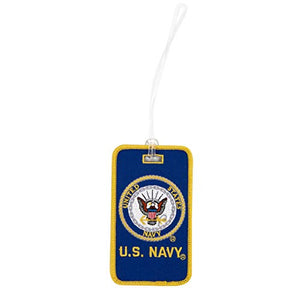 U.S. Navy Luggage Tag Seal Embroidered Luggage Tag Bag (Luggage - U.S. Navy w/Seal)