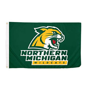 Desert Cactus Northern Michigan University NMU Wildcats NCAA 100% Polyester Indoor Outdoor 3 feet x 5 feet Flag