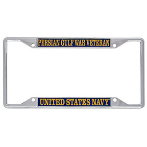 US Navy Persian Gulf War Veteran License Plate Frame For Front Back of Car Officially Licensed United States