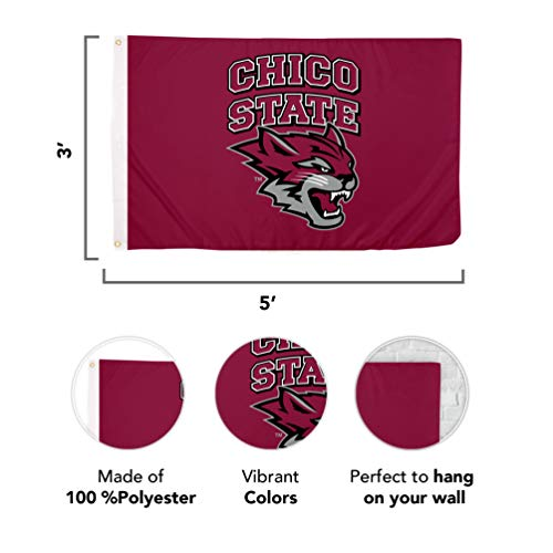 California State University Chico NCAA 100% Polyester Indoor Outdoor 3 feet x 5 feet Flag