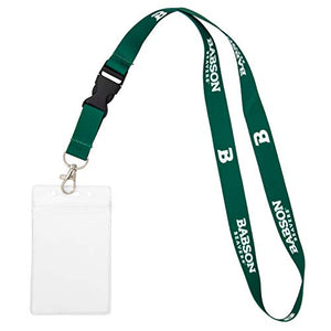 Babson College NCAA Car Keys College ID Badge Holder Lanyard Keychain Detachable Breakaway Snap Buckle (w/ Pouch)