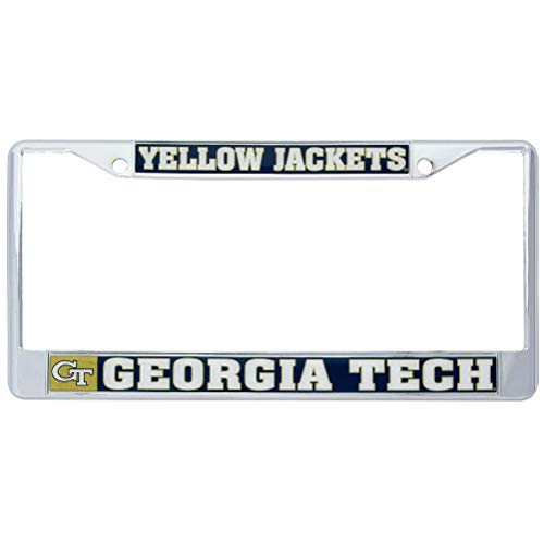 Georgia Tech Yellow Jackets Metal License Plate Frame For Front Back of Car Officially Licensed (Mascot)