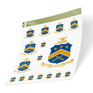Pi Kappa Phi Multiple Size Sticker Decal Laptop Water Bottle Car (Crest Sheet - Type 3)