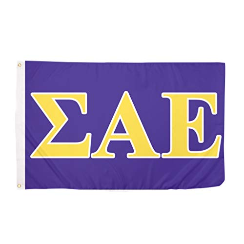 Sigma Alpha Epsilon Letter Fraternity Flag Greek Banner 3 feet x 5 feet Sign Decor SAE