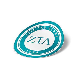 Zeta Tau Alpha ZTA Sticker Sorority Seal Decal Exclusively Designed 3 Inch Greek for Window Laptop Computer Car Officially zeta