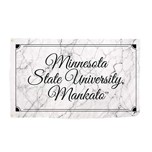 Desert Cactus Minnesota State University Mankato MNSU Mavericks NCAA 100% Polyester Indoor Outdoor 3 feet x 5 feet Sign Decor (Marble Flag)