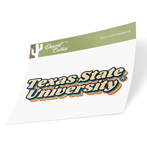 Texas State University TxSt Bobcats NCAA Vinyl Decal Laptop Water Bottle Car Scrapbook (70's Name Sticker)