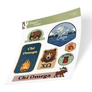 Chi Omega Sticker Decal Laptop Water Bottle Car (Outdoor Sheet)