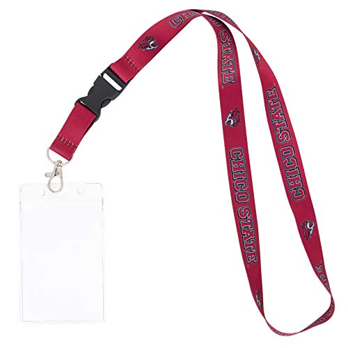 California Cal State University Chico CSU Wildcats NCAA Car Keys College ID Badge Holder Lanyard Keychain Detachable Breakaway Snap Buckle (w/ Pouch)