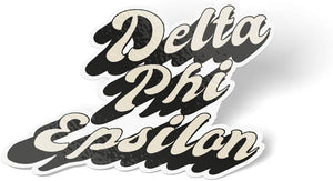 Delta Phi Epsilon 70's Sticker Decal Greek for Window Laptop Computer Car DPhie (Design 3)