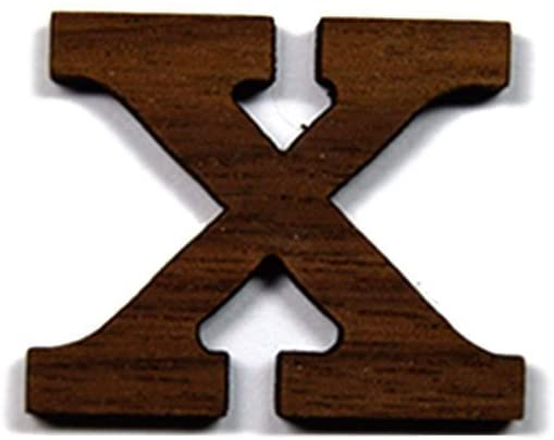 Chi Greek Letter Made of Wood for Paddle Mascot Board Wooden (1 Inch)
