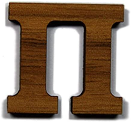 Pi Greek Letter Made of Wood for Paddle Mascot Wooden Board (1/2 Inch)