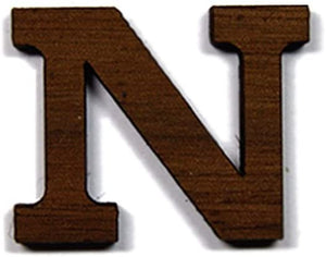 Nu Greek Letter Made of Wood for Paddle Mascot Board (1 Inch)