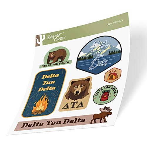 Delta Tau Delta Sticker Decal Laptop Water Bottle Car (Outdoor Sheet)