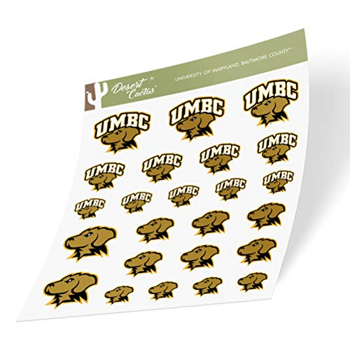 University of Maryland Baltimore County UMBC Retrievers NCAA Sticker Vinyl Decal Laptop Water Bottle Car Scrapbook (Type 1-1 Sheet)
