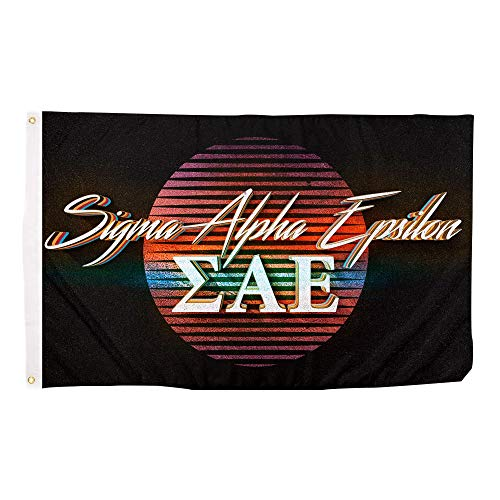 Sigma Alpha Epsilon 80's Letter Fraternity Flag Banner 3 feet x 5 feet Sign Decor SAE (Flag - 80?s)
