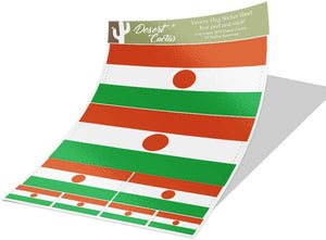 Niger Country Flag Sticker Decal Variety Size Pack 8 Total Pieces Kids Logo Scrapbook Car Vinyl Window Bumper Laptop V