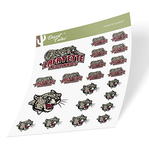 Lafayette College Leopards NCAA Sticker Vinyl Decal Laptop Water Bottle Car Scrapbook (Type 1-1 Sheet)