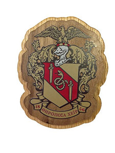 Theta Chi Wood Wooden Crest Paddle Mascot Board T Chi (3.5 Inches Tall Double Raised)
