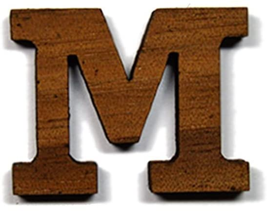 Mu Greek Letter Made of Wood for Paddle Mascot Board Wooden (1 Inch)