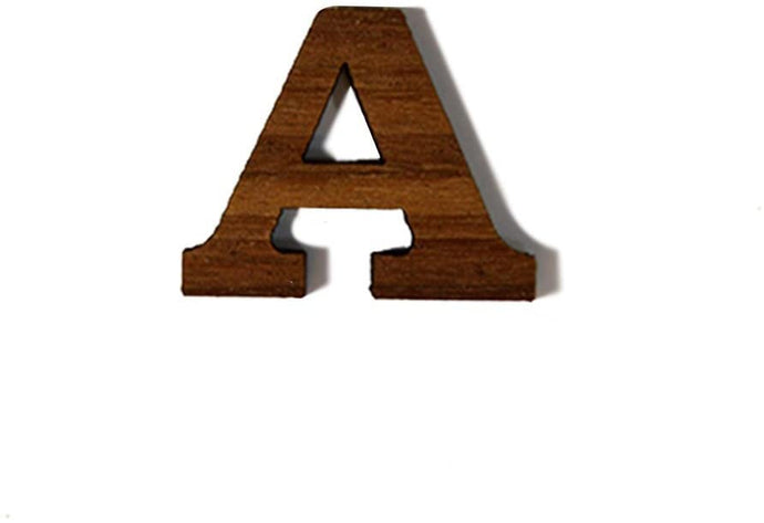 Alpha Greek Letter Made of Wood for Paddle Mascot Board Wooden (1 Inch)