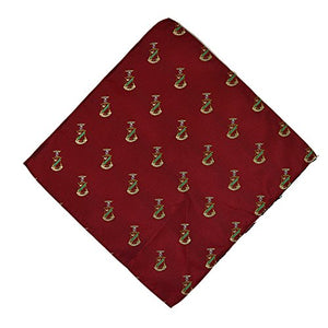 Kappa Sigma Fraternity Greek Formal Occasion Standard Length Width Hanky Pocket Square Kappa Sig (Repeating Crest Hanky)
