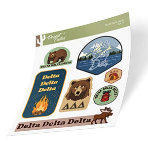 Delta Delta Delta Sticker Decal Laptop Water Bottle Car (Outdoor Sheet)