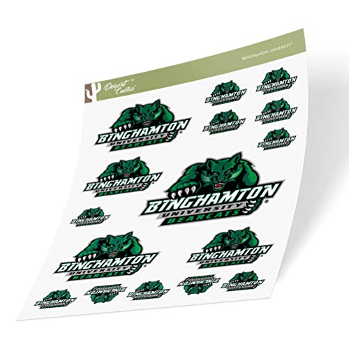 Binghamton University Bearcats NCAA Sticker Vinyl Decal Laptop Water Bottle Car Scrapbook (Sheet Type 3-1)