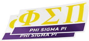 Phi Sigma Pi 2-Pack Decal Greek for Window Laptop Computer Car (Color/Letter Name Sticker)
