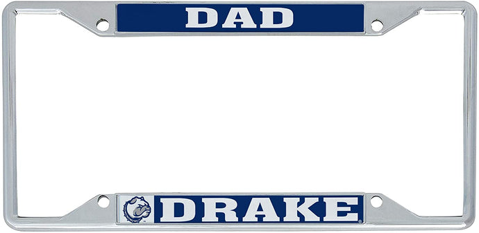 Drake University Bulldogs NCAA Metal License Plate Frame For Front Back of Car Officially Licensed (Dad)