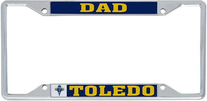 University of Toledo Rockets NCAA Metal License Plate Frame For Front Back of Car Officially Licensed (Dad)