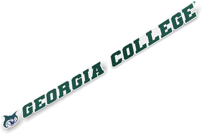 Georgia College GCSU Bobcats NCAA Name Logo Vinyl Decal Laptop Water Bottle Car Scrapbook (15 Inch Sticker)