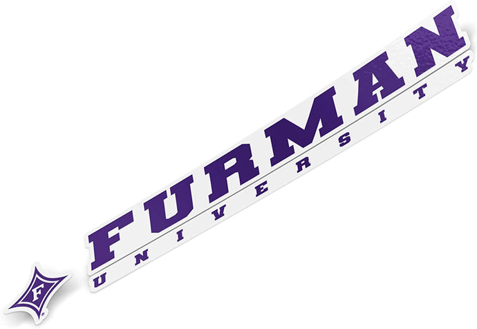 Furman University Paladins NCAA Name Logo Vinyl Decal Laptop Water Bottle Car Scrapbook (8 Inch Sticker)