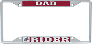 Rider University Broncs NCAA Metal License Plate Frame For Front Back of Car Officially Licensed (Dad)