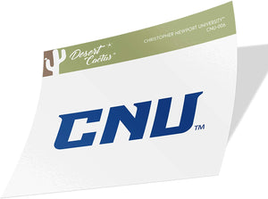Christopher Newport University CNU Captains NCAA Vinyl Decal Laptop Water Bottle Car Scrapbook (Sticker - 006)