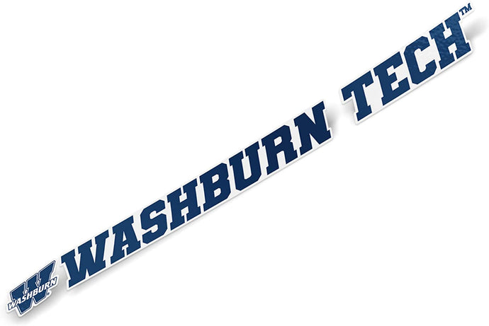 Washburn University Ichabods NCAA Name Logo Vinyl Decal Laptop Water Bottle Car Scrapbook (15 Inch Sticker)