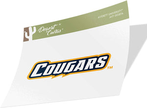 Averett University Cougars NCAA Vinyl Decal Laptop Water Bottle Car Scrapbook (Sticker - 00287A)